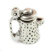 Coffee Pot 3D Sterling Silver Charm